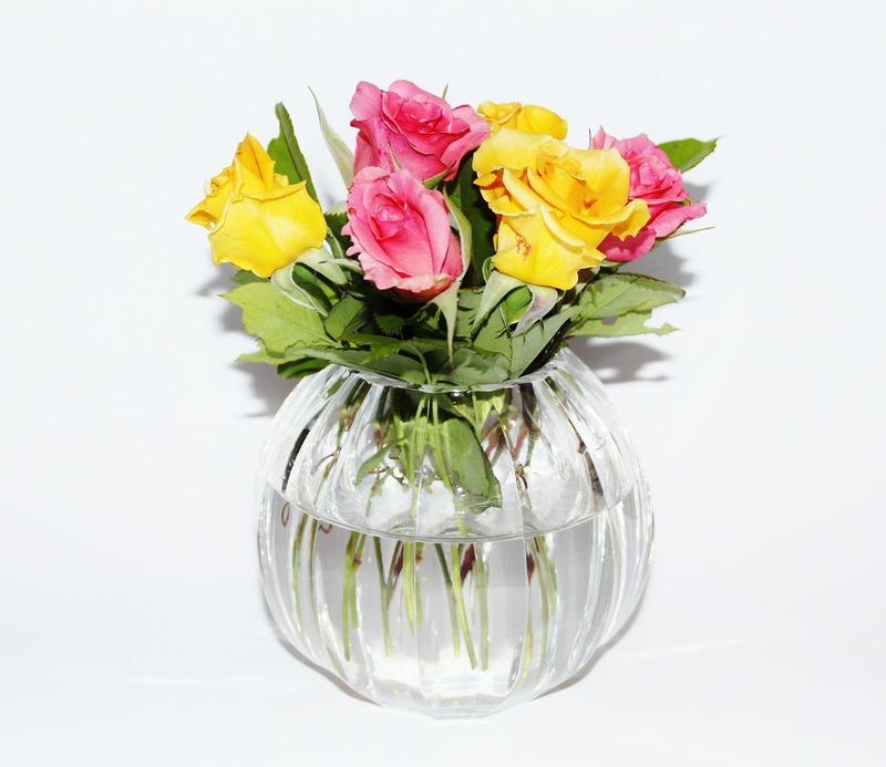 Vasos de vidro na decoração