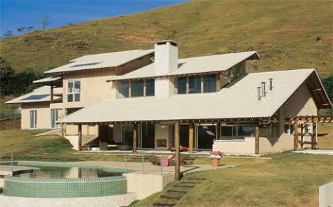 Tipo de telhado com telha de concreto