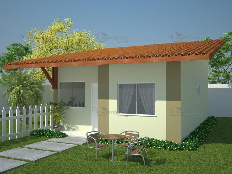 Plantas de casas pequenas s projetos blog for Modelos de frente para casas pequenas