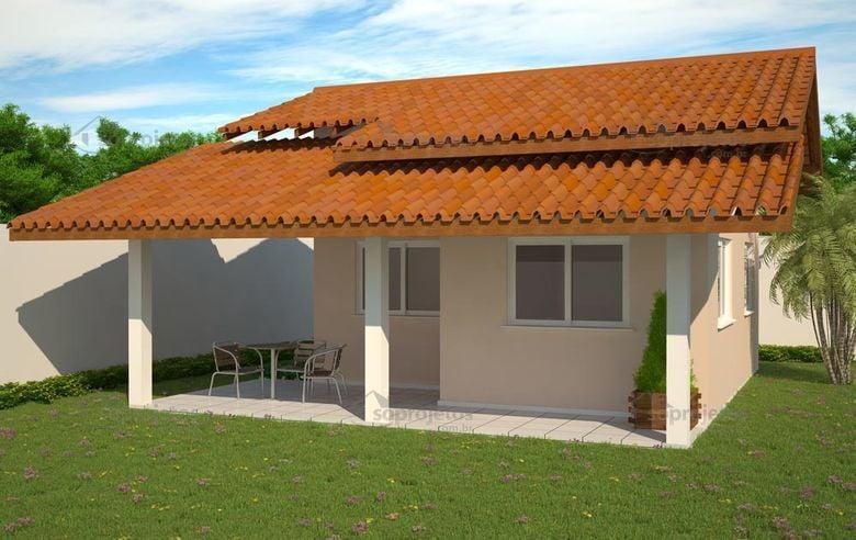 Casa pequena popular - Chalé 1 quarto - Cód. 52