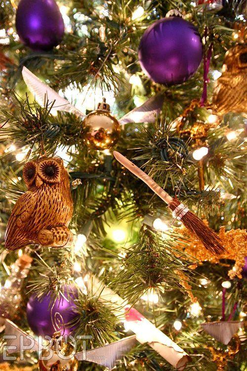 Árvore de Natal Geek com decoração do Harry Potter