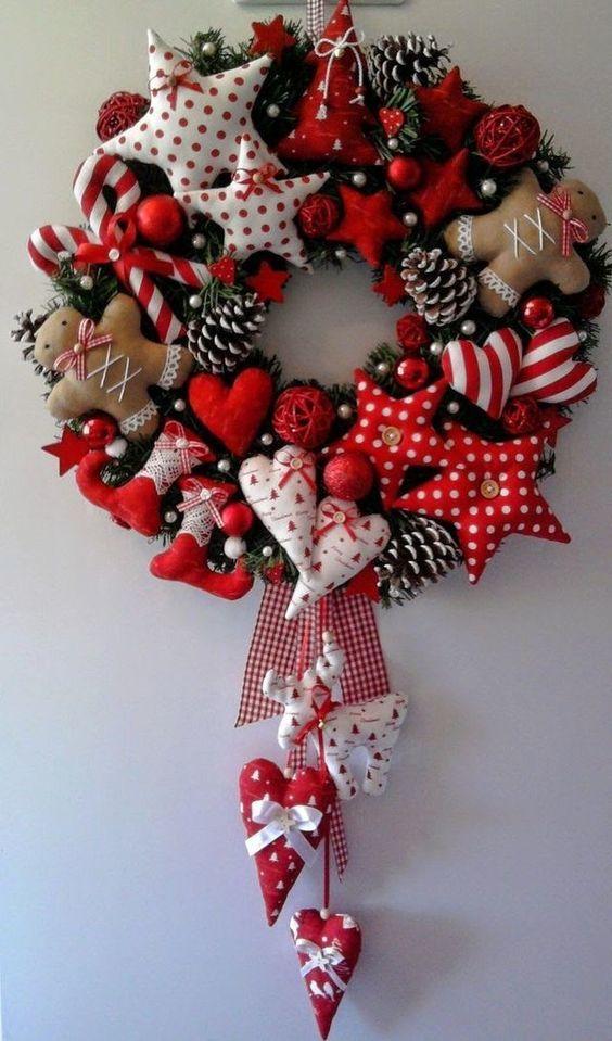 Guirlanda de Natal artesanal