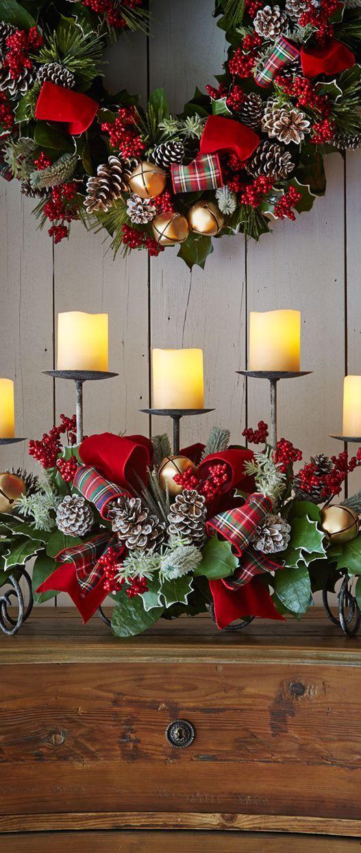Guirlanda de Natal combinando com outros itens decorativos
