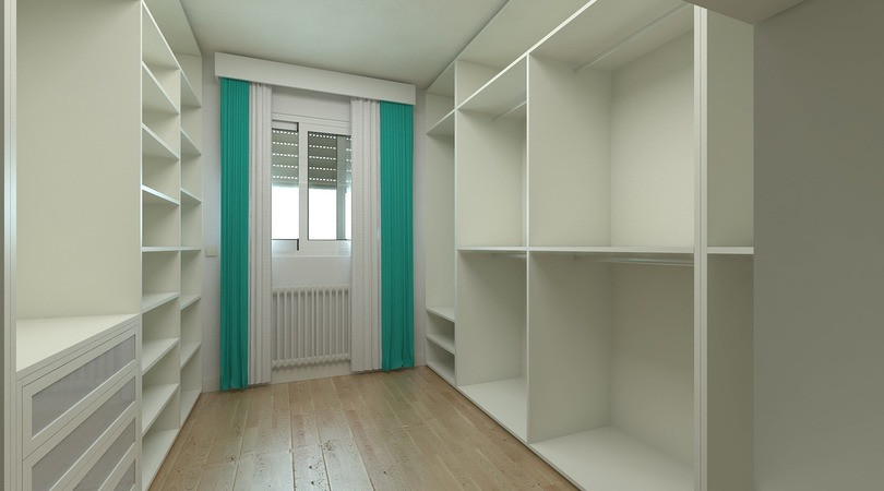 Modelo de casa com closet