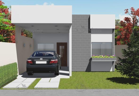 planta de casa terrea com 3 quartos fachada 1