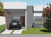 Versão do Projeto Cód. 137 com Garagem e 3 quartos - Cód. 138