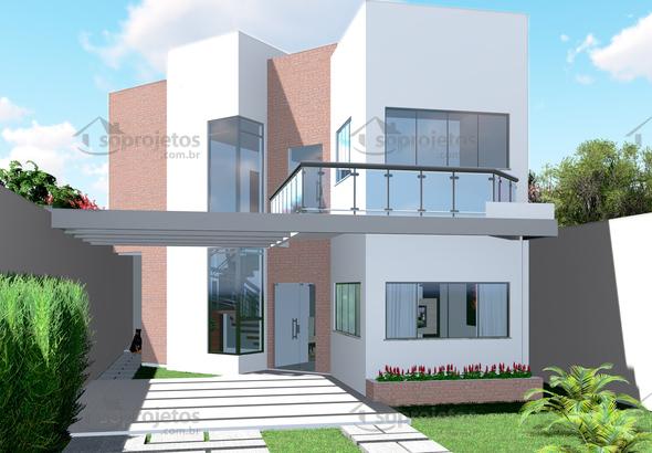 fachada sobrado moderno 1