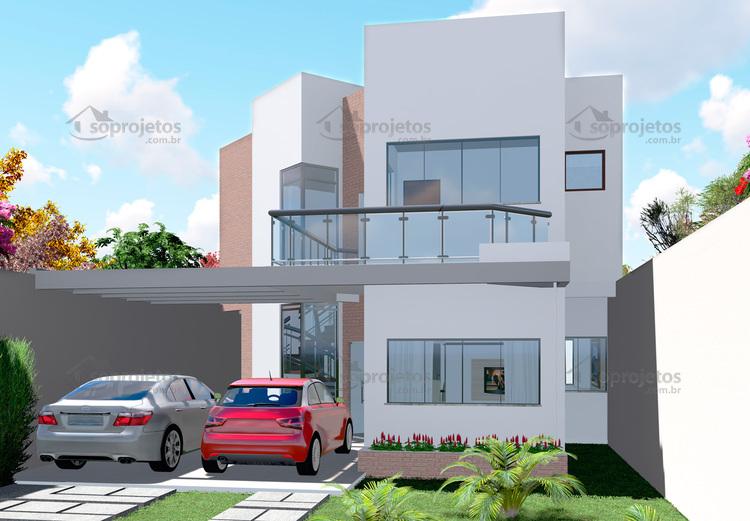 fachada sobrado moderno 2