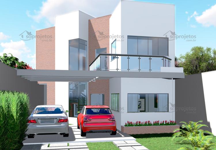 fachada sobrado moderno 3