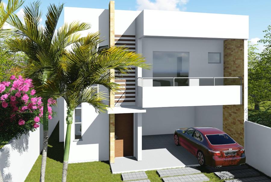 Planta de casa duplex 3 suítes com varanda gourmet