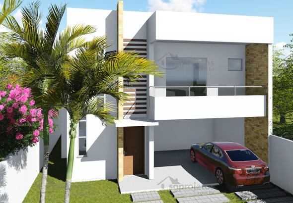 Planta De Casa Duplex 3 Su Tes Com Varanda Gourmet S
