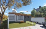Planta de casa ampla varanda gourmet cod 115 frente 1