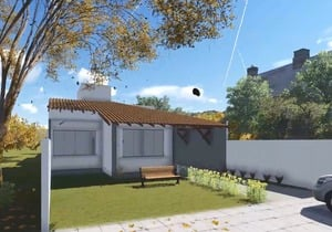 Planta de casa com ampla varanda Gourmet - Cód. 115
