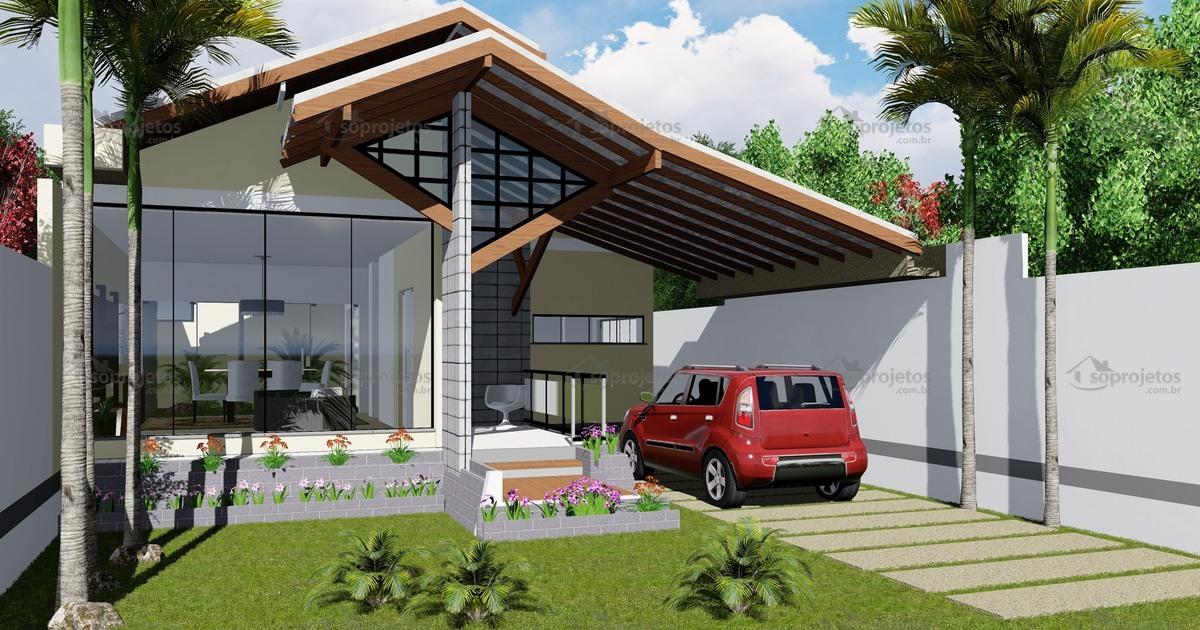Projeto de casa com amplo jardim de inverno c d s for Plantas para casa
