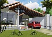 Projeto de casa com amplo Jardim de Inverno - Cód. 145
