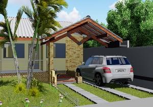 Projeto de casa Popular e Moderna