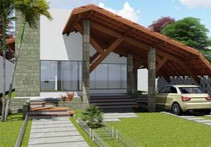 Projeto de casa Térrea com 3 quartos e área gourmet - Cód. 147