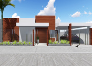 Projeto de casa Térrea 3 quartos para terrenos pequenos - Cód. 148