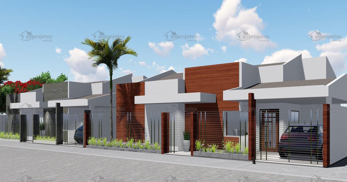 Planta de vila de casas c d 149 s projetos Plantas de residencias
