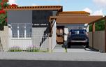 Planta de casa Térrea com 2 quartos para terrenos pequenos - Cód. 150