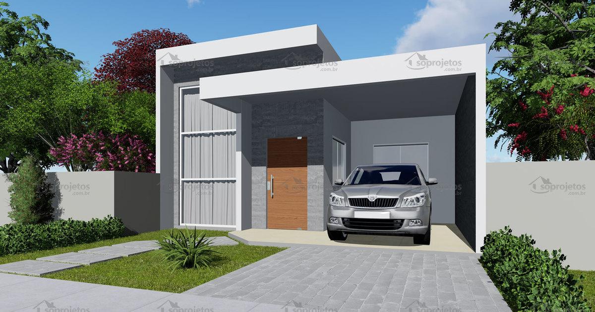 T rreo com 115 m 2 quartos 1 su te c d 153 s for Fachadas de casas modernas de 2 quartos