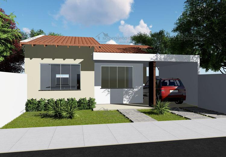 T rreo 3 quartos c d 74 s projetos for Casa moderna 90m2