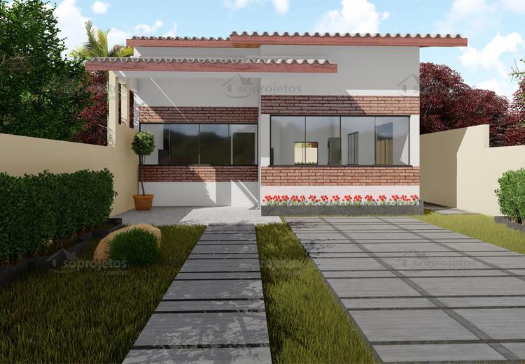 Resultado de imagem para casas feita no fundo do terreno home for Casa moderna 8x20