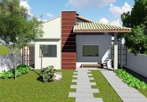 Projeto De Casa Térrea Com Suíte Cód 164