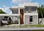 Versao do projeto cod 152 com suite no terreo cod 167 fachada