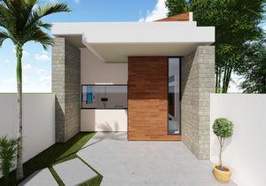 Projeto de casa térrea com 5 metros de frente - Cód. 169