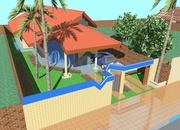 Planta de casa urbana e confortável - Cód. 28