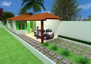 Planta de casa pequena e acolhedora - Cód. 36