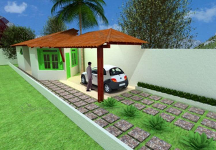 fachada da casa Pequena e Acolhedora cod 36
