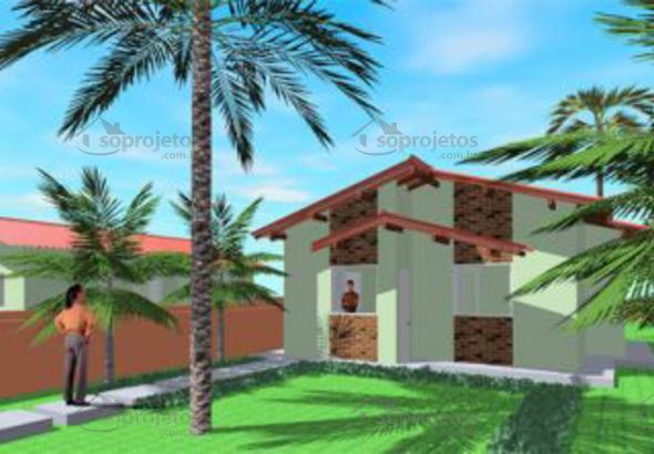 fachada de casa popular tipo 1 2 quartos cod 46