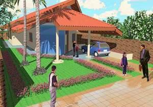 Planta de casa urbana e confortável - Opção 2 - Cód. 49