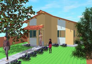 Planta de casa popular Tipo 2 - 2 Quartos - Cód. 48