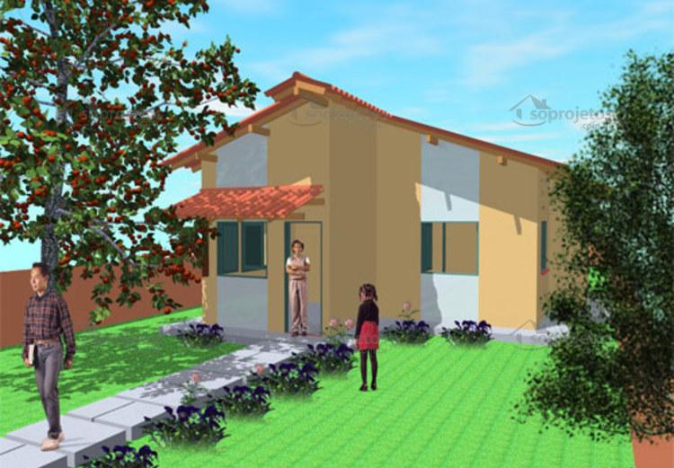 fachada de casa popular tipo 2 2 quartos cod 48