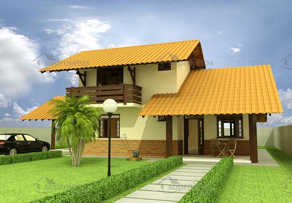 Sobrado casa de dois andares perfeito c d 50 s for Modelos de casas medianas