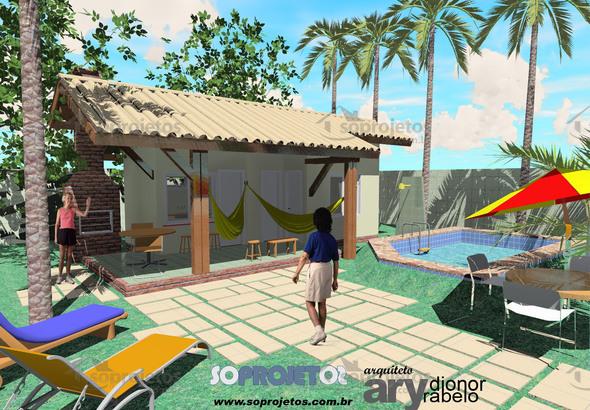 fachada da casa 1 quarto e varanda na praia cod 55