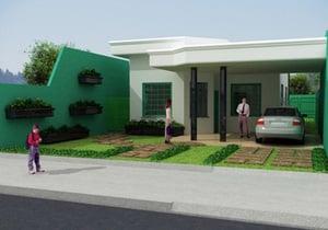 Planta de casa com 2 quartos para cidade - Cod. 57