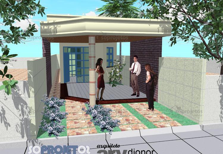fachada da casa 5 metros de frente cod 58