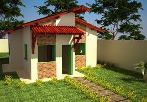 Planta de casa com 3 Quartos - Cód. 64