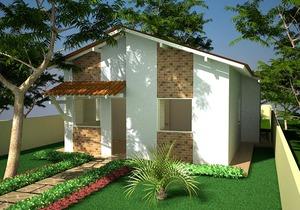 Planta de casa popular com 4 Quartos - Cód. 65