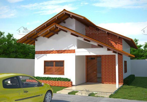 Projeto de casa popular com 80 m2 c d 66 s projetos for Casa moderna 60 m2