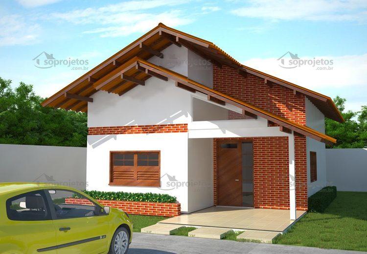 Projeto de casa popular com 80 m2 c d 66 s projetos for Diseno de casa de 7 x 17
