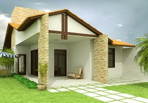 Projeto de casa térrea com 3 Quartos - Cód. 74