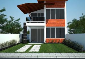 Projeto de casa com sacada na suíte - Cód. 84