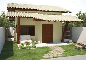 Planta de casa térrea com 2 quartos- Cód. 89