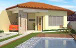 Modelo de Casa Térrea com 3 Quartos - Cód. 96