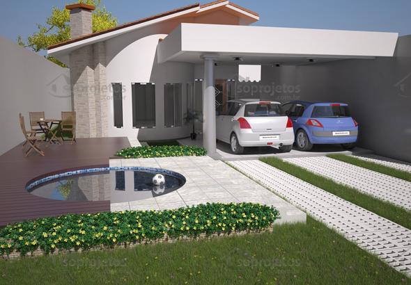 Planta de casa t rrea 10 por 24 com lareira c d 97 s for Casa moderna de 7 x 15